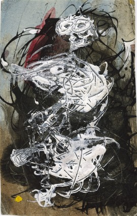 Dorothea Tanning Untitled, 1961 Ink, watercolour and gouache on paper 15 x 9.5 cm, 5 7/8 x 3 5/8 ins