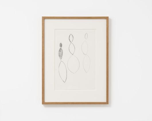 Ana Mendieta Untitled, c. 1981-84 Graphite on paper 33.0 x 21.3 cm, 13 x 8 3/8 ins 36.7 x 48.8 cm, 14 1/2 x 19 1/4 ins, framed Unique