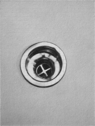 Dan Fischer Robert Gober, Drain, 2011 Graphite on paper Image size: 10.2 x 7.6cm, 4 x 3 ins Paper size: 38.1 x 27.9 cm, 15 x 11 ins Framed: 41.4 x 31.2 cm 16 3/8 x 12 3/8 ins
