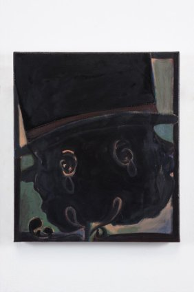 Ryan Mosley  Silhouette Noir, 2011  Oil on linen  35 x 30.5 cm 13 3/4 x 12 1/8 in