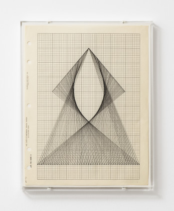 Lenore Tawney From its Center II, 1964 India ink on graph paper, perspex frame 27.8 x 21.6 cm, 11 x 8 1/2 ins 29.3 x 23 x 2.3 cm, 11 1/2 x 9 1/8 x 7/8 ins, framed