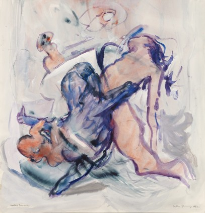 Dorothea Tanning Heated Gouache, 1982 Watercolour on board 52.4 x 50.5 cm, 20 5/8 x 19 7/8 ins