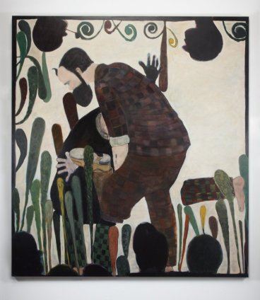 Ryan Mosley  The Rest of His Natural Life, 2011  Oil on canvas  210 x 190 cm 82 5/8 x 74 3/4 in