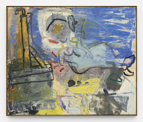 Roy Oxlade Untitled, 1991 Oil on canvas 101 x 122 cm, 39 3/4 x 48 1/8 ins 104.5 x 125 cm, 41 1/8 x 49 1/4 ins, framed Signed and dated '21.1.1991'