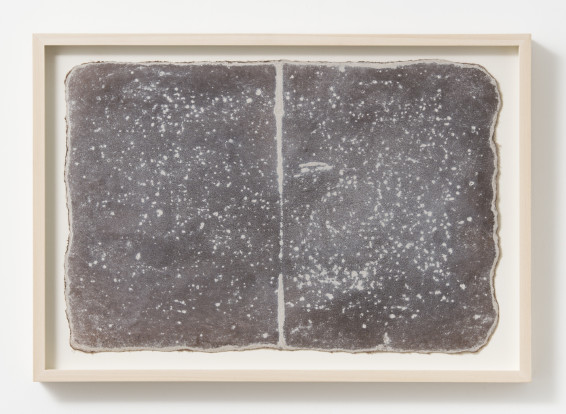 Michelle Stuart Small Ledger: Near White Horse of Uffington, 1979-1980 Earth from site on muslin-mounted paper 29.5 x 44.5 cm, 11 5/8 x 17 1/2 ins 34 x 48.5 cm, 13 3/8 x 19 1/8 ins, framed