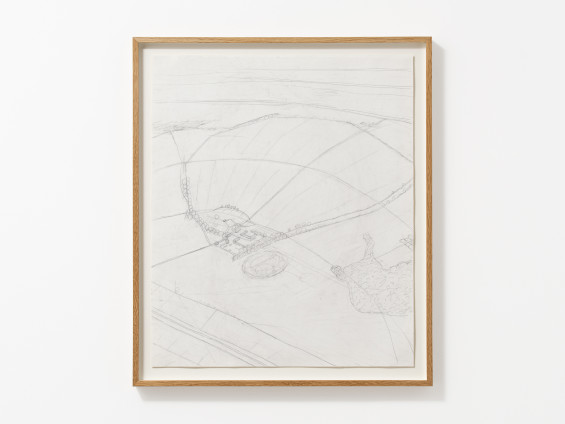Carol Rhodes Compound and Slope, 2008 Pencil on paper 64 x 54 cm, 25 1/4 x 21 1/4 ins 71.5 x 61.2 cm, 28 1/8 x 24 1/8 ins framed