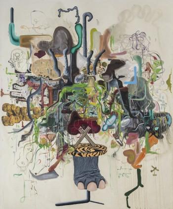 Michael Bauer  Creme Dream 3, 2015  Oil on canvas  183 x 152.7 cm, 72 1/8 x 60 1/8 ins