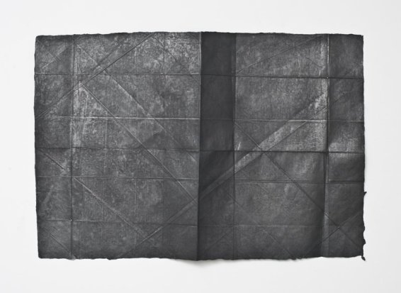 N. Dash New York (November II), 2013 Graphite and paper 50.7 x 75 cm 20 x 29 1/2 ins