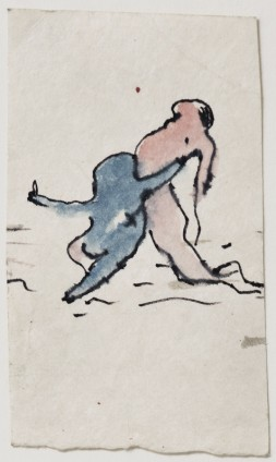 Dorothea Tanning Untitled, c. 1967 Ink and watercolour on Japan paper 13.3 x 7.6 cm, 5 1/4 x 3 ins 37.6 x 29.8 cm, 14 3/4 x 11 3/4 ins, framed Inscribed on verso '17'