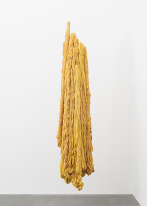 Sheila Hicks  I am at the Gate, 2017  Linen  278 x 68 x 52.5 cm, 109 1/2 x 26 3/4 x 20 5/8 ins
