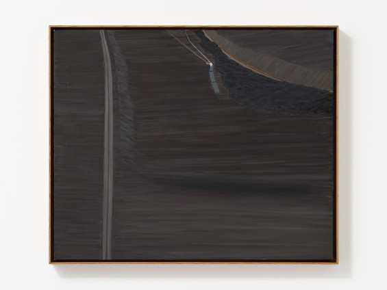Carol Rhodes Road and Valley, 1999 Oil on board 42 x 51 cm, 16 1/2 x 20 1/8 ins 43.6 x 52.9 cm, 17 1/8 x 20 7/8 ins framed Signed, titled and dated (upper middle verso)