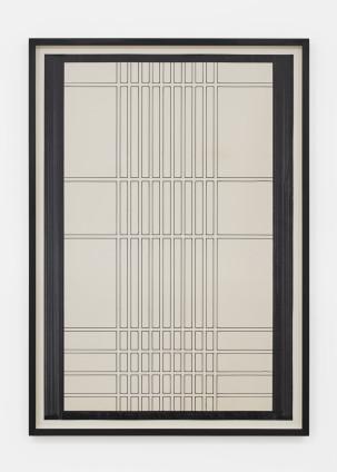 Branko Vlahović  Untitled, 1965  Marker pen on paper  100.5 x 68.5 cm, 39 3/8 x 26 3/4 ins, paper size  108 x 73 x 5 cm, 42 1/2 x 28 3/4 x 2 ins, framed