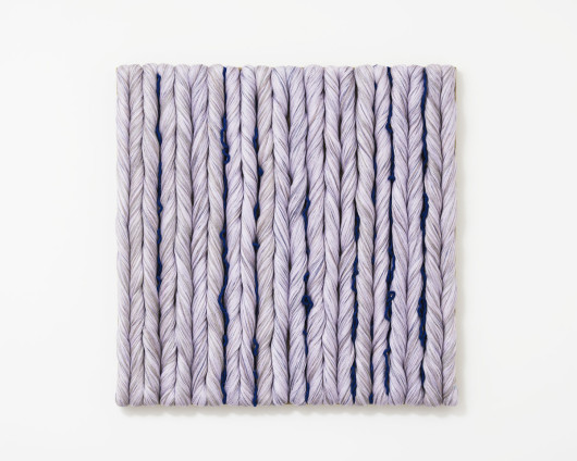 Sheila Hicks  Lilas, 2014  Linen  81 x 80.5 cm, 31 7/8 x 31 3/4 ins  Signed on verso