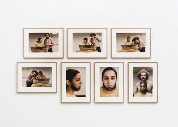 Ana Mendieta Untitled (Facial Hair Transplants), 1972 7 Estate colour photographs 33.7 x 50.8 cm, 13 1/4 x 20 ins, each, paper size 50.3 x 66.9 cm , 19 3/4 x 26 3/8 ins, landscape (4 photographs), framed 67 x 49 cm, 19 1/4 x 26 3/8 ins, portrait (3 photographs), framed Edition 2/10