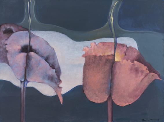 "Dorothea Tanning Siderium Exaltatum (Starry Venusweed), 1997 Oil on canvas 97 x 130 cm, 38 1/4 x 51 1/8 ins unframed 99 x 132 cm, 39 x 52 ins framed Signed ""Dorothea Tanning"" bottom right"