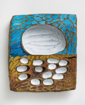 Erika Verzutti  Van Gogh with Eggs, 2015  Bronze and acrylic  52 x 46 x 9 cm, 20 1/2 x 18 1/8 x 3 1/2 ins  Unique