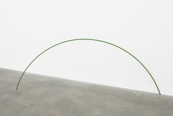 Davide Balula  Coloring the WiFi Network (with Green Grass), 2015  Modified router, Antenna Sculpture, Radio Waves, Digital Paint  195.6 x 76.2 cm 77 x 30 ins