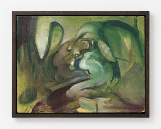 "Dorothea Tanning Relationship: Friends or Enemies, 1985 Oil on canvas 30.8 x 40.6 cm, 12 1/8 x 16 ins 33.7 x 44 cm, 13 1/4 x 17 3/8 ins, framed Signed l.r. ""Dorothea Tanning"", inscribed on verso ""Friends or Enemies II Dorothea Tanning 1985"""
