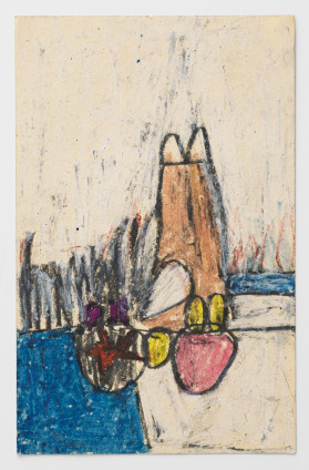 Hannah Wilke Untitled, c. 1964-66 Pastel and graphite on card 16.5 x 10.2 cm, 6 1/2 x 4 ins 44 x 37.8 x 4 cm, 17 3/8 x 14 7/8 x 1 5/8 ins, framed