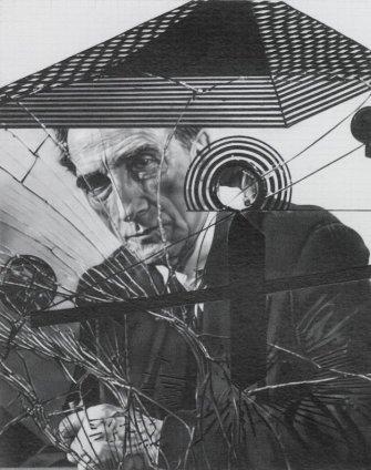 Dan Fischer Duchamp Behind Glass, 2011 Graphite on paper Image size: 16.2 x 20.3 6 3/8 x 8 ins Paper size:47.3 x 37.8 cm 18 5/8 x 14 7/8 in Framed: 50.7 x 41.1 cm 19 3/4 x 16 1/4 in