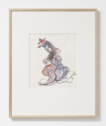 "Dorothea Tanning Maternity, 1978 Graphite and watercolour on Japan paper 37.8 x 27.9 cm, 14 7/8 x 11 ins 62 x 50.1 cm, 24 3/8 x 19 3/4 ins, framed Signed l.r.: ""Dorothea Tanning '78"", inscribed l.l. ""Maternité"""