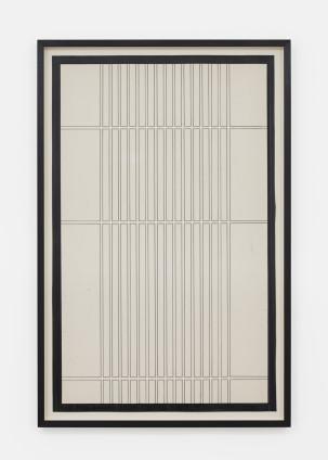 Branko Vlahović  Untitled, 1965  Marker pen on paper  100.5 x 63 cm, 39 5/8 x 24 3/4 ins, paper size  108.5 x 71 x 5 cm, 42 3/4 x 28 x 2 ins, framed