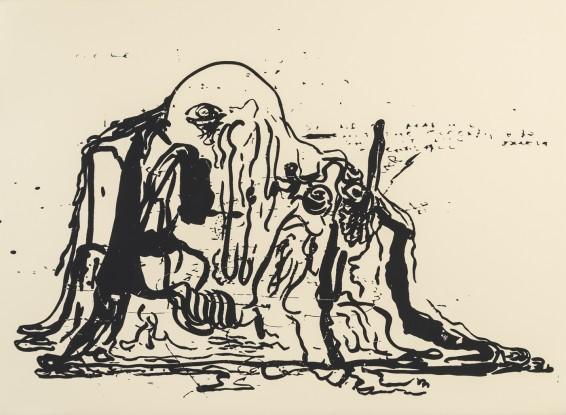 Michael Bauer  Gift (Hush) 3, 2015  Screenprint on paper, framed  56.5 x 76.2 cm, 22 1/4 x 30 ins  Edition 1/3 + 1 AP