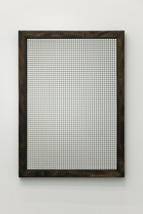 Robert Mapplethorpe  Mirror, c. 1971  Mirror with wire mesh, wood frame  26 x 36 ins, 66 x 91.5 cms  Unique  Certificate of authenticity from the Robert Mapplethorpe Estate