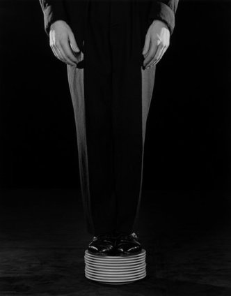 Robert Mapplethorpe Shoes on Plates, 1984 Silver Gelatin print 50.8 x 40.6 cm, 20 x 16 ins Edition 7/10