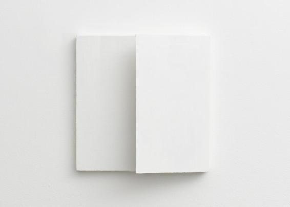 Fernanda Gomes Untitled, 2017 Wood, canvas and paint 25.2 x 25.2 x 7.4 cm, 9 7/8 x 9 7/8 x 2 7/8 ins