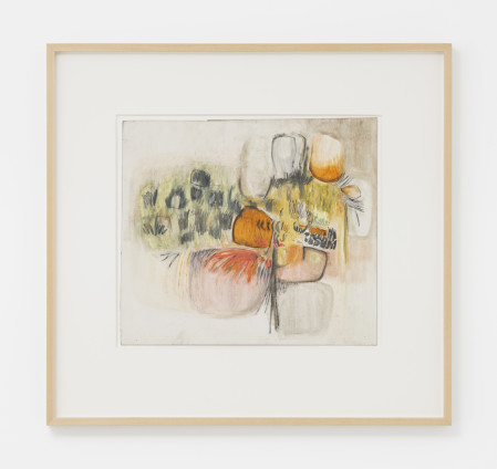Hannah Wilke  Untitled, c. 1960  Pastel and pencil on board  33.7 x 38.4 cm, 13 1/4 x 15 1/8 ins, paper size  49.1 x 46.2 cm, 19 3/8 x 18 1/4 ins, framed  Signed