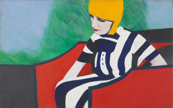Sue Dunkley  Untitled (Flapper), c. 1970  Oil on canvas  76.5 x 121.5 cm, 30 1/8 x 47 7/8 ins