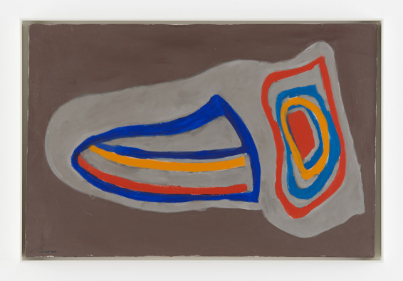 Betty Parsons Horton's Point, 1968 Acrylic on canvas 61 x 91.4 cm, 24 x 36 ins 63.7 x 95.1 cm, 25 1/8 x 37 1/2 ins, framed Signed on recto and verso