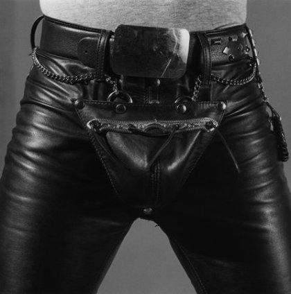 Robert Mapplethorpe Leather Crotch, 1980 Silver Gelatin print, framed Unframed: 50.8 x 40.6 cm / 20 x 16 ins Framed: 60.4 x 57.4 cm / 23 3/4 x 22 5/8 Edition 3/15 Stamped and Signed by The Robert Mapplethorpe Estate