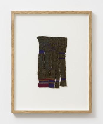 Sheila Hicks Mameluke, 1988 Woven rayon, nylon 22.9 x 12.7 cm, 9 x 5 ins 44.2 x 34.5 x 3.7 cm, 17 3/8 x 13 5/8 x 1 1/2 ins, framed