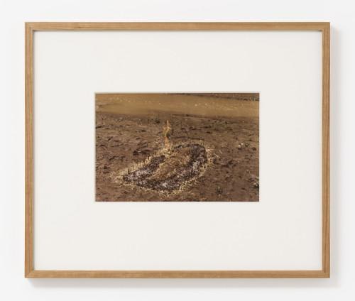 Ana Mendieta Untitled: Silueta Series (Figure with Hay Burned), 1977 Colour photograph 20.3 x 25.4 cm, 8 x 10 ins, paper size 46.3 x 39 cm, 18 1/4 x 15 3/8 ins, framed Lifetime