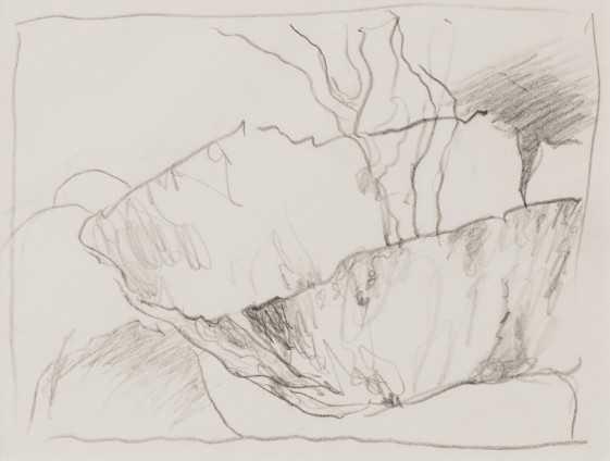 Dorothea Tanning Sketch for Pictor Mysteriosa (Burnt Umbrage), 1997 Graphite on paper 20 x 24.2 cm, 7 7/8 x 9 1/2 ins 42.5 x 39 x 3.75 cm, 16 3/4 x 15 3/8 x 1 1/2 ins, framed