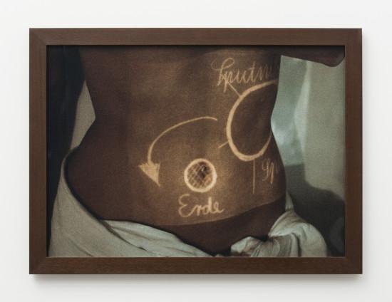 Birgit Jürgenssen Untitled (Body projection), 1988 Colour photograph 50 x 70 cm, 19 3/4 x 27 1/2 ins 56.5 x 76.5 cm, 22 1/4 x 30 1/8 ins, framed Edition 1/3 Printed in 2009