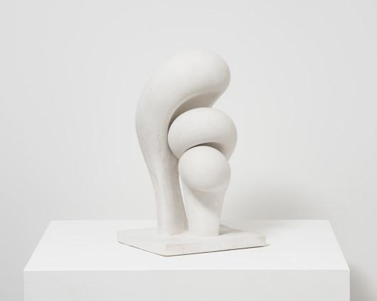 Maria Bartuszová Three-Part Sculpture, 1977 Plaster 34 x 19 x 17 cm, 13 3/8 x 7 1/2 x 6 3/4 ins Unique