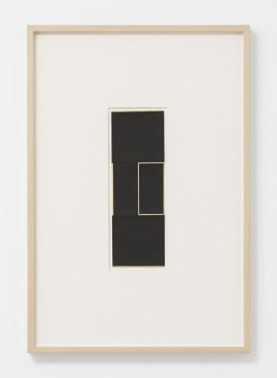 Lygia Clark Estudo para Espaço Modulado, 1958 Collage, card 29.6 x 9.8 cm, 11 5/8 x 3 7/8 ins 61.8 x 42.9 cm, 24 3/8 x 16 7/8 ins, framed
