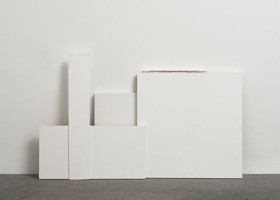 Fernanda Gomes Untitled, 2017 Wood, paint, canvas 60.3 x 98 x 10 cm, 23 3/4 x 38 5/8 x 4 ins