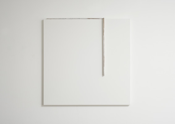 Fernanda Gomes  Untitled, 2017  Wood, paint  91 x 90 x 7 cm, 35 7/8 x 35 3/8 x 2 3/4 ins