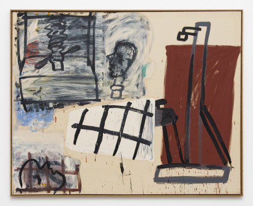 Roy Oxlade Studio, Press and Easel, 1993 Oil on canvas 175 x 219 cm, 68 7/8 x 86 1/4 ins 179 x 223 cm, 70 1/2 x 87 3/4 ins, framed signed
