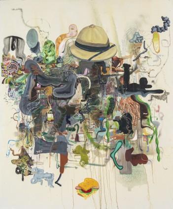 Michael Bauer  Creme Dream 1, 2015  Oil on canvas  183.8 x 152.4 cm, 72 3/8 x 60 ins