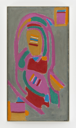 Betty Parsons The Queen of the Circus, 1973 Acrylic on canvas 174.2 x 92.8 cm, 68 5/8 x 36 1/2 ins 178 x 96.7 cm, 70 1/8 x 38 1/8 ins, framed Signed on recto