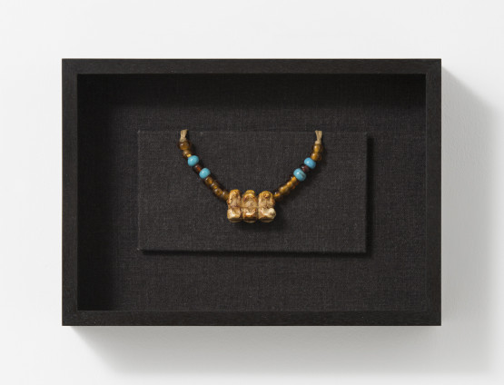Robert Mapplethorpe  Necklace, 1970-71  Mixed media  20.2 x 28.7 x 6.5 cm, 8 x 11 1/4 x 2 1/2 ins, framed  Unique