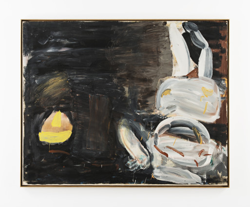 Roy Oxlade Lemon Squeezer, 1987 Oil on Canvas 122.2 x 152.7 cm, 48 1/8 x 60 1/8 ins 124.8 x 155.3 cm, 49 1/8 x 61 1/8 ins, framed