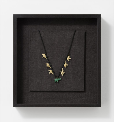 Robert Mapplethorpe  Necklace, 1970-71  Mixed media  32.7 x 30.7 x 6.5 cm, 12 7/8 x 12 1/8 x 2 1/2 ins, framed  Unique