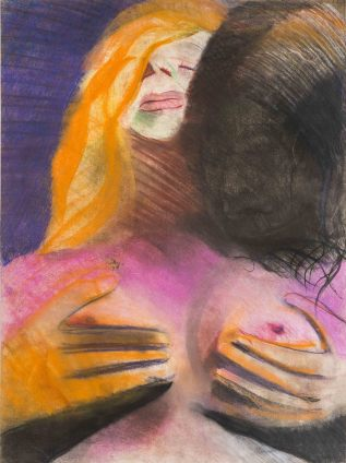 Sue Dunkley The Shadows, c. 1969 Pastel on paper 76 x 56 cm, 29 7/8 x 22 1/8 ins, paper size 89 x 69.5 cm, 35 1/8 x 27 3/8 ins, framed