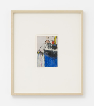 Hannah Wilke  Untitled, c. 1964-66  Pastel and graphite on card  16.5 x 11.4 cm, 6 1/2 x 4 1/2 ins, paper size  44 x 37.8 x 4 cm, 17 3/8 x 14 7/8 x 1 5/8 ins, framed  Signed on recto 'Wilke'